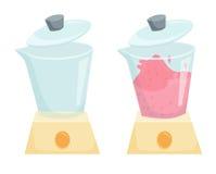 Mélangeur avec le smoothie de mélange Photos stock