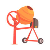 Mélangeur concret orange Illustration colorée de vecteur de bande dessinée illustration de vecteur