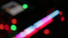 Mélangeur d'audio de studio de musique Unfocus banque de vidéos