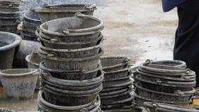 Mélangeur de mortier Photographie stock libre de droits