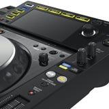 Mélangeur de plaque tournante du DJ, vue étroite Photographie stock