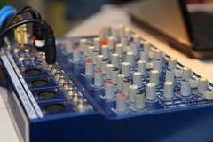 Mélangeur du DJ à la partie photo libre de droits