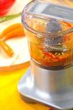 Mélangeur et légumes frais Photos libres de droits