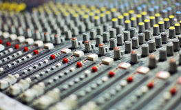 Mélangeur sonore Images libres de droits