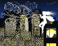 Mélodie de la nuit illustration stock