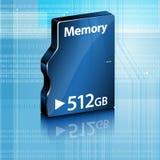 Mémoire de l'ordinateur abstraite sur le fond abstrait d'ordinateur Images stock
