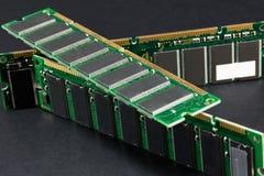 Mémoire de l'ordinateur de carnet et d'ordinateur portable, banques de mémoire de PC photographie stock libre de droits