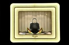 Mémoire de luxe de mode de Prada en Italie Images libres de droits