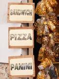 Mémoire de nourriture en Italie Photo libre de droits