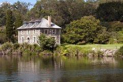 Mémoire de pierre de Kerikeri, les terres du nord, Nouvelle Zélande Photo stock
