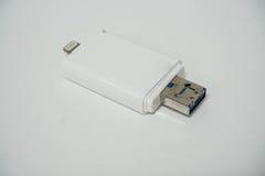 Mémoire externe de téléphone intelligent image stock