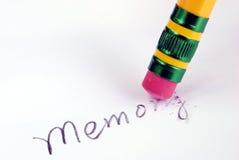 Mémoire perdante ou oublier de mauvaises mémoires photographie stock libre de droits