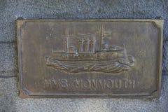 Mémorial à la bataille WW1 navale de Coronel Image libre de droits