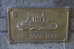 Mémorial à la bataille WW1 navale de Coronel Photos libres de droits