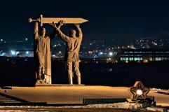 mémorial Arrière-avant dans Magnitogorsk photos stock
