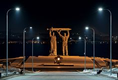 mémorial Arrière-avant dans Magnitogorsk image stock