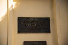 Mémorial au Général Anders à Cracovie Pologne photos stock