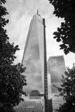 9/11 mémorial au World Trade Center, point zéro Image stock