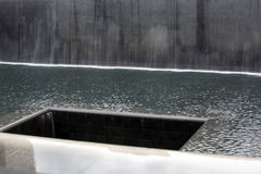 9/11 mémorial au World Trade Center, point zéro Images stock