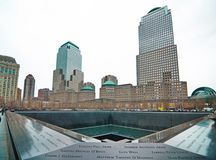 9/11 mémorial au World Trade Center point zéro Photographie stock