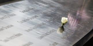 Mémorial au World Trade Center point zéro Images stock