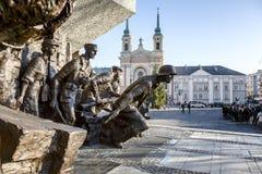 Mémorial aux héros du soulèvement 1944 de Varsovie Image stock