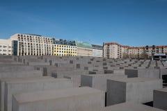 Mémorial aux juifs assassinés de l'Europe/de mémorial d'holocauste dedans Images stock