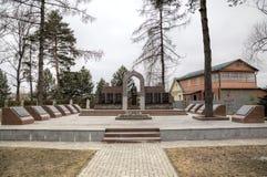 Mémorial aux soldats de 5 armées du front occidental Zvenigorod, Russie images stock