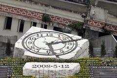 Mémorial aux victimes de tremblement de terre de Sichuan dans Yingxiu, Chine Image libre de droits