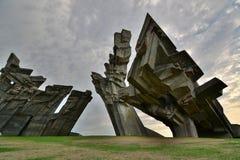 Mémorial aux victimes du nazisme Neuvième fort kaunas lithuania Image libre de droits