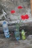 Mémorial d'école de Beslan, où l'attaque terroriste était en 2004 Images stock