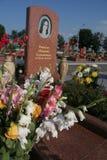 Mémorial d'école de Beslan, où l'attaque terroriste était en 2004 image stock