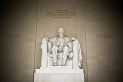 Mémorial d'Abraham Lincoln Photos stock
