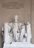 Mémorial d'Abraham Lincoln Image stock