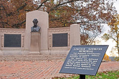 Mémorial d'adresse de Lincoln image stock
