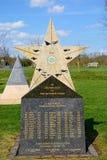 Mémorial d'escadron de Royal Air Force 31 à l'arborétum commémoratif national, Alrewas photo stock