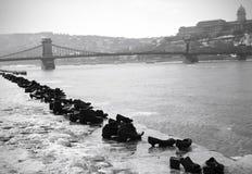Mémorial d'holocauste de Budapest image stock