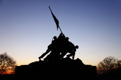 Mémorial d'Iwo Jima avant lever de soleil Images stock