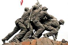 Mémorial d'Iwo Jima dans le Washington DC Images libres de droits