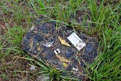 Mémorial d'un éleveur de drapeau sur le Mt Suribachi Photo stock