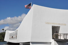 Mémorial d'USS Arizona chez Pearl Harbor dans Oahu, Hawaï Image libre de droits