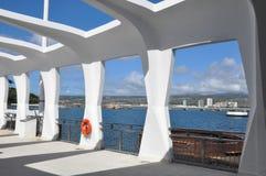Mémorial d'USS Arizona dans Pearl Harbor en Hawaï Photo libre de droits
