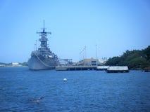 Mémorial d'USS Missouri Pierside, Pearl Harbor Hawaï image stock
