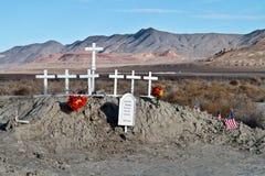 Mémorial dans le désert nordique du Nevada Photographie stock