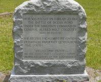 Mémorial de bataille de guerre civile Photos libres de droits