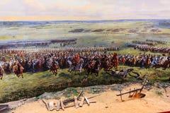 Mémorial de bataille de Waterloo Images libres de droits