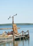 Mémorial de bord de la mer Images libres de droits