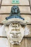 Mémorial de buste du médecin du 17ème siècle Marko Gerbec image stock