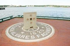 Mémorial de Fagundes - Halifax - Canada photographie stock libre de droits