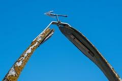 Mémorial de fanon de baleine chez Whitby Yorkshire photographie stock